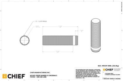 Крепление для проектора Chief CMSZ006 black