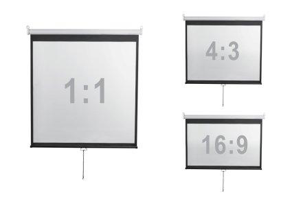 """Экран Digis DSOD-4303 (Optimal-D, формат 4:3, 100"""", 206x159, рабочая поверхность 200x150, MW)"""