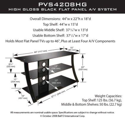 Подставка Bello PVS-4208HG