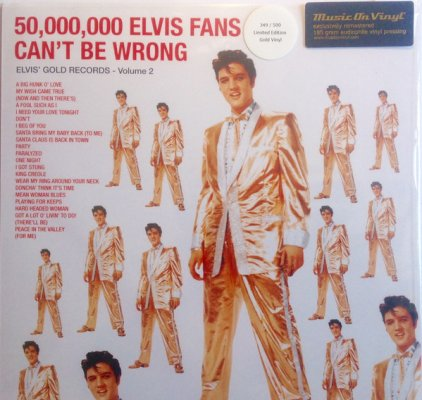 Виниловая пластинка Elvis Presley 50,000,000 ELVIS FANS CAN'T BE WRONG (ELVIS' GOLD RECORDS, VOL. 2) (180 Gram)