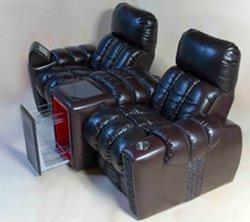 Кресло для домашнего кинотеатра Home Cinema Hall Luxury Консоль увеличенная с баром (столешница и электро-привод в комплекте) ALCANTARA/175