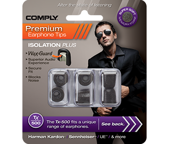 Амбушюры Comply Tx-500 Black Medium (3 пары)