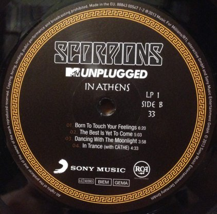 Виниловая пластинка Scorpions MTV UNPLUGGED IN ATHENS (180 Gram)
