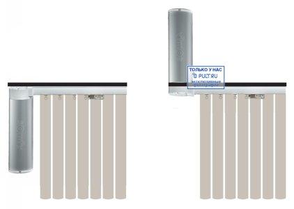 Умные шторы Somfy Карниз с электроприводом Glydea 35 DCT/ WT длина 1.2 м