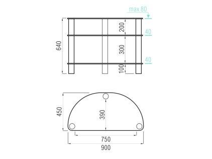 MD 404 Slim серебро/дымчатое стекло