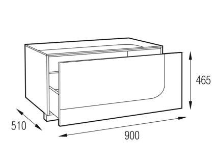 Подставка MD 406.0912-B Planima (черный/дымчатое стекло)