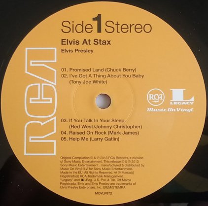 Виниловая пластинка Elvis Presley ELVIS AT STAX (180 Gram/Remastered)