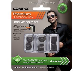Амбушюры Comply Tx-200 Black Small (3 пары)