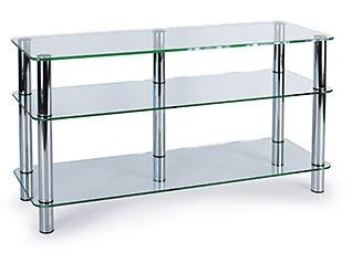 Подставка под телевизор MD 505 Plazma (хром/прозрачное стекло)