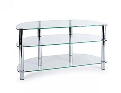 Подставка MD 403 Slim (серебро/прозрачное стекло)