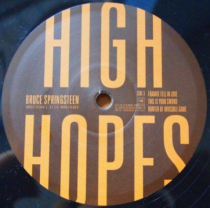 Виниловая пластинка Bruce Springsteen HIGH HOPES (2LP+CD/W530)