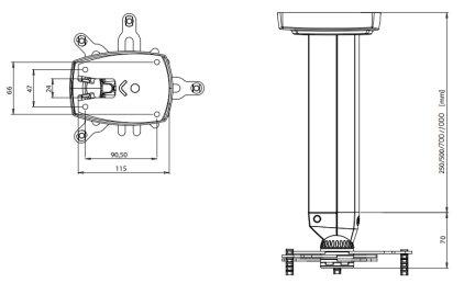 Штанга X-серии для в/пр SMS Projector X CL F250 A/B