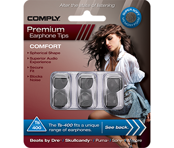 Амбушюры Comply Ts-400 Black Large (3 пары)