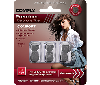 Амбушюры Comply Ts-100 Black Medium (3 пары)