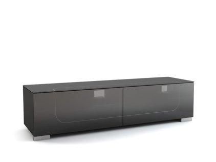 Подставка MD 509.1812-B Planima (черный/дымчатое стекло/опора: серебро)