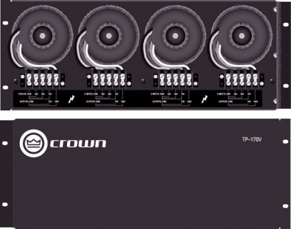 Панель Crown TP-170V встраиваемая панель трансформаторов