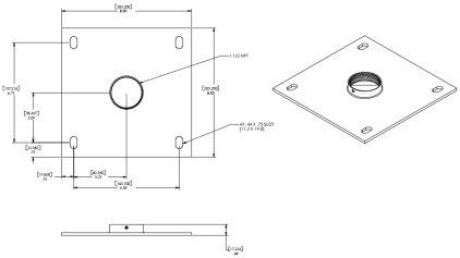 Крепление для проектора Chief CMA-110 silver Ceiling Plate