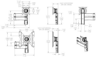 """Крепёж для телевизора IC iC-SP-DA2t (настенное поворотно-наклонное крепление для телевизоров 10-32"""")"""