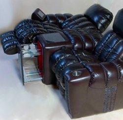 Кресло для домашнего кинотеатра Home Cinema Hall Elit Консоль увеличенная с баром (столешница и электро-привод в комплекте) ALCANTARA/175