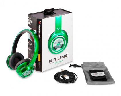 Наушники Monster NTune On-Ear Candy Green