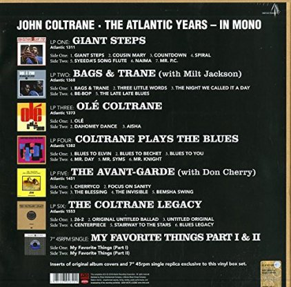 "Виниловая пластинка John Coltrane THE ATLANTIC YEARS IN MONO (6LP+7""/Box set)"