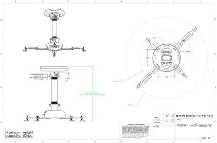 Sanus Projector VMPR1B black