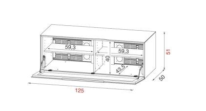 Тумба под ТВ Munari BG 411 BI (Белый)