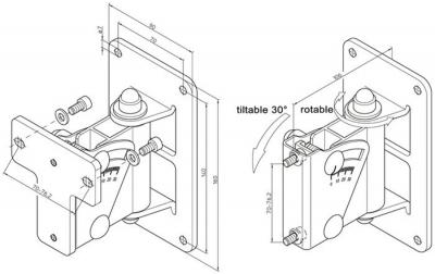 Крепление Genelec GENELEC 8000-402W скоба для крепления на стене, белая для серии 8000