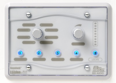 Панель BSS BSS BLU8- WHT программируемая настенная панель управления серии BLU. Цвет белый