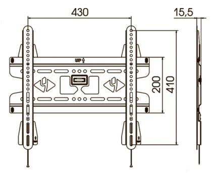 Кронштейн для телевизора Kromax VEGA-50 grey