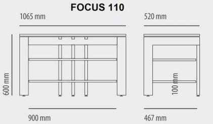 Кабель канал для Schroers Focus 110 (steel)