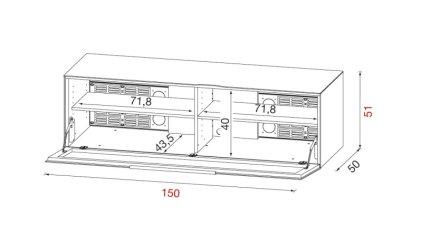 Тумба под ТВ Munari BG 412 BIO (Белый матовый)