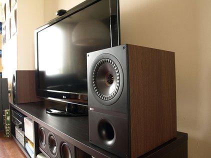 Полочная акустика KEF Q100 walnut vinyl