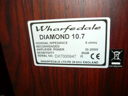 Напольная акустика Wharfedale Diamond 10.7 blackwood