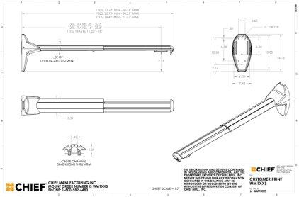 Крепление для проектора Chief WM240s silver