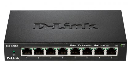 Мультирум D-Link DES-1008D/L2A (Desktop Switch 8-port (8UTP, 10/100Mbps))