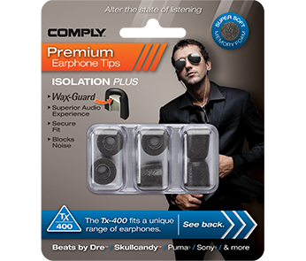 Амбушюры Comply Tx-400 Black Large (3 пары)