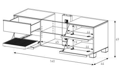 Подставка под телевизор Sonorous MD 9340-C-INX-WNT