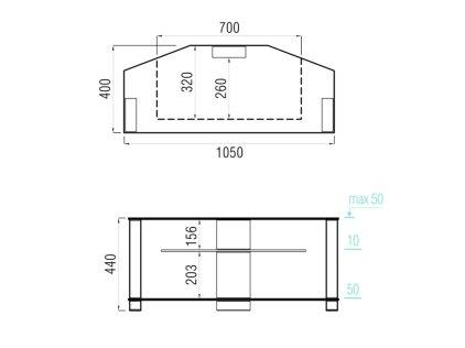 Подставка MD 517.1030 (черный/дымчатое стекло)