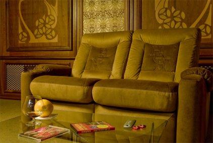 Кресло для домашнего кинотеатра Home Cinema Hall Classic Консоль увеличенная с баром (столешница и электро-привод в комплекте) ALCANTARA/175