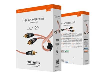 Кабель межблочный In-Akustik Star Audio Cable Y-Sub RCA-2RCA 7.5m #00308275