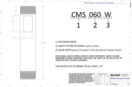 Крепление для проектора Chief CMS060s Siver