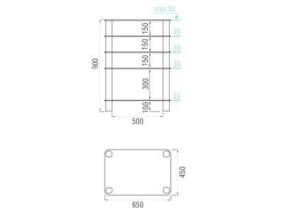 Подставка под аппаратуру MD 108-5 (серебро/матовое стекло)