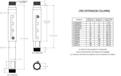 "Штанга Chief CMS006009 black Extension Adjust Column 6-9"""