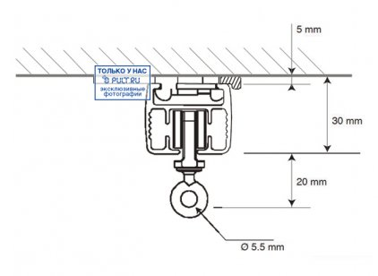 Умные шторы Somfy Карниз с электроприводом Glydea 35 DCT/ WT длина 6.1 м