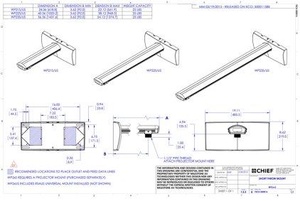 Крепление для проектора Chief WP23S