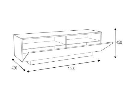 Подставка под телевизор MD 570.1540 R черн-бел-бел