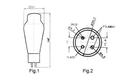 Лампа для усилителя TJ Fullmusic 300B/c (Matched Pair)