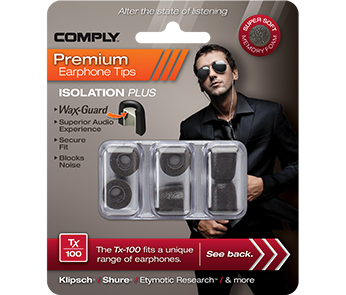 Амбушюры Comply Tx-100 Black Medium (3 пары)