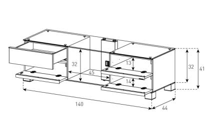 Подставка Sonorous MD 9540-B-INX-WNT